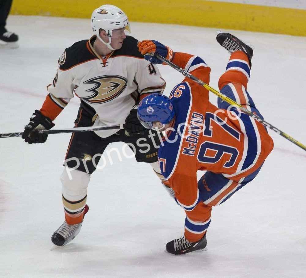 Edmonton Oilers vs Anaheim Ducks Prediccion