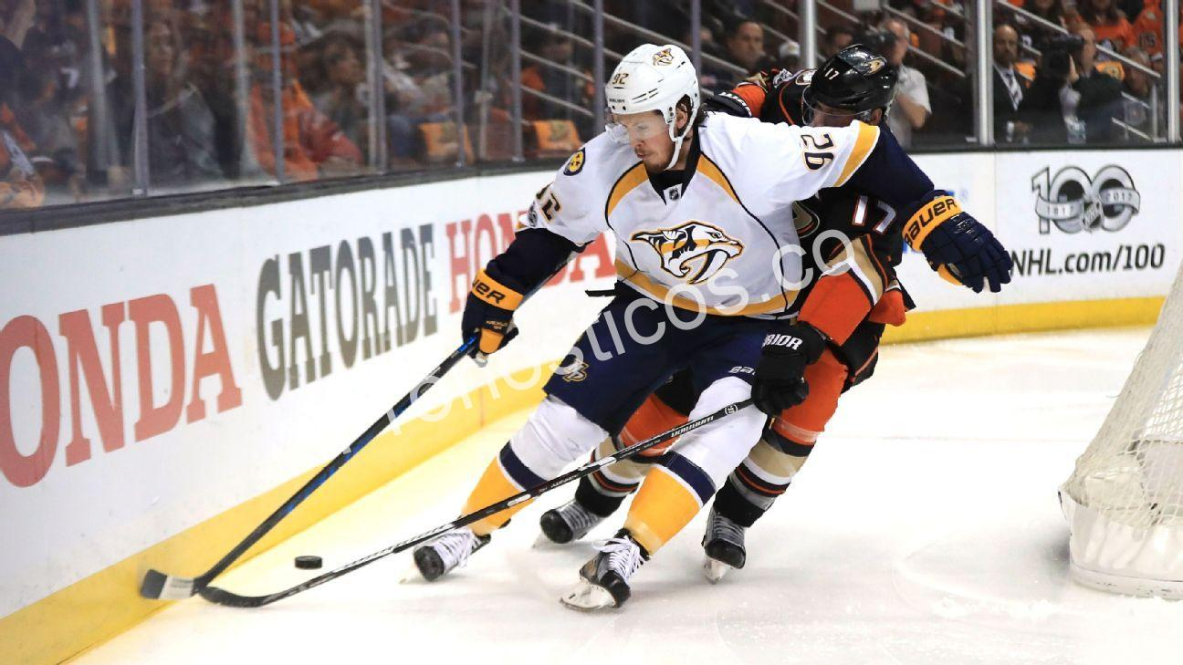 Anaheim Ducks	 vs Nashville Predators Prediccion